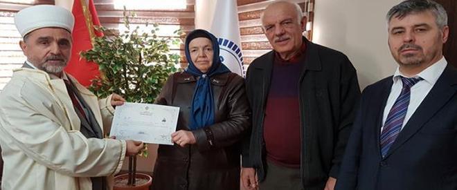 Moldovyalı Elena Beykoz'da Müslüman oldu