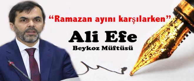 Beykoz İlçe Müftüsü Ali Efe 'Beykoz İçin Yaz'dı