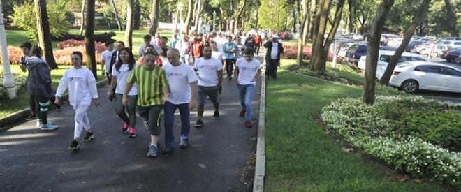 Beykoz'da sağlıklı yaşam için yürüdüler!