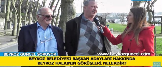 Beykoz halkı belediye başkan adayları için ne diyor?