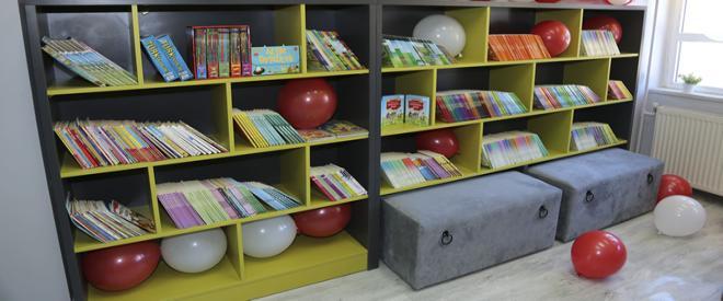 Beykoz okullarına 3 yeni kütüphane kuruldu