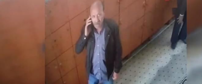 Beykoz'da camideki ayakkabı hırsızlığı güvenlik kamerasında