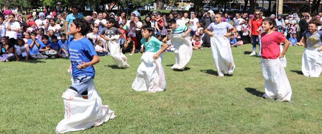 Tarihi Beykoz Çayırı bu kez çocuklara ev sahipliği yaptı