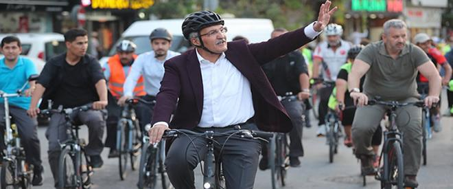 Beykoz'da bisiklet ile sağlık, çevre ve yakıt tasarrufu