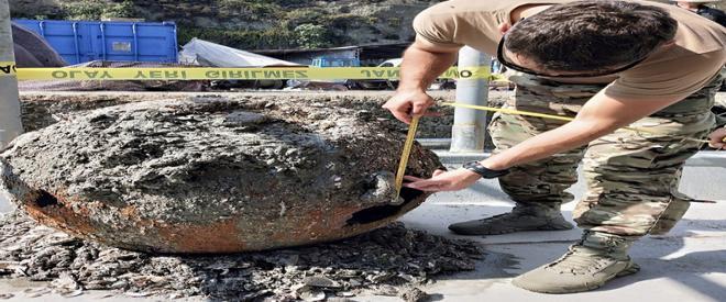Beykoz'da balıkçıların bulduğu mayın imha edildi
