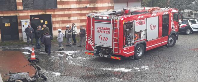 Beykoz'da çıkan otopark yangınında mahsur kaldılar!