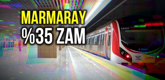 İBB'den bir zam da Marmaray geçiş ücretlerine yapıldı