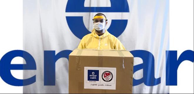 Ensar Beykoz'dan polis ve sağlıkçılara destek