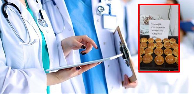 Beykoz'da sağlık çalışanlarını duygulandıran sürpriz