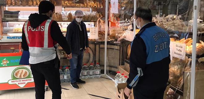 İki günde Beykoz'da 110 market ve fırın denetlendi